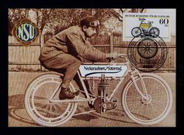 NSU 1903 Motos Transports 1983 Germany Maximum Cards Mc706 - Motos