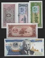 B 65 - LAOS Lot De 5 Billets Diff. état Neuf 1er Choix - Laos