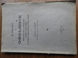 LERICHE Maurice : Eléments De Géologie - Wissenschaft