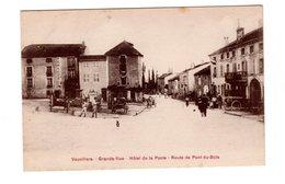 CPA 70 - Vauvillers - Grande Rue - Hôtel De La Poste - Route De Pont Du Bois - France