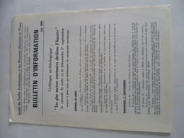 Bulletin De La Société Des Fouilles Archéologiques Et Des Monuments Historiques De L'Yonne 1985 - Archéologie