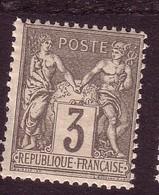 1880 - Type Sage (Type II - N Sous U) - N° 87 - 3 C. Gris - Neuf (**) - 1876-1898 Sage (Type II)
