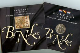 Benelux, Euro Set 2003, FDC, Van 1 Cent Tot 2 Euro Van Belgie, Nederland En Luxemburg , 24 Munten + 1 Zilveren Penning - Altri
