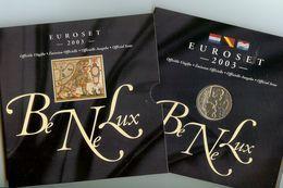 Benelux, Euro Set 2003, FDC, Van 1 Cent Tot 2 Euro Van Belgie, Nederland En Luxemburg , 24 Munten + 1 Zilveren Penning - EURO