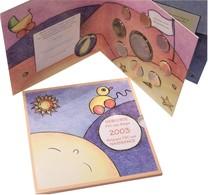 Belgie Euro Jaarset 2003, 8 Munten Van 1 Cent Tot 2 Euro + Themapenning Baby Geboorte, In Blister - Belgique