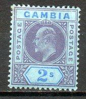 GAMBIE - (Colonie Britannique) - 1909 - N° 63 - 2 P. Violet Et Bleu S. Azuré - (Edouard VII) - Gambie (...-1964)