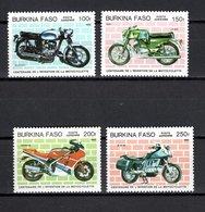 BURKINA FASO PA   N° 290 à 293  NEUFS SANS CHARNIERE  COTE  8.00€  MOTO  MOTOCYCLETTE - Burkina Faso (1984-...)