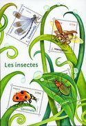 """La Feuille F5148 """"INSECTES DE NOS JARDINS"""" Luxe Bas Prix, A SAISIR. - Feuilles Complètes"""