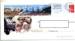 Pap Luquet Flamme Epinal La Poste Illustré Securite Vosges  Theme Voiture - Postal Stamped Stationery