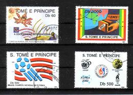 470c * S.TOME E PRINCIPE * 4 WERTE * GESTEMPELT ** !! - São Tomé Und Príncipe