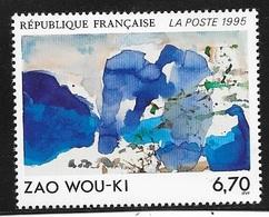 5 TIMBRES  N° 2928 -  TABLEAU OEUVRE DE ZAO WOU KI    -  NEUF  - 1995 - Nuevos