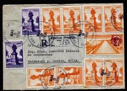 A5839) Dominikanische Rep. R-Brief Ciudad Trujillo 09.03.38 N. Wadensvil / Schweiz - Dominikanische Rep.