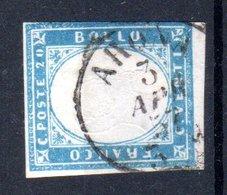 REGNO  VITTORIO  EMANUELE II   1861  20 Cent.  USATO - 1861-78 Vittorio Emanuele II