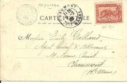 Sur CPA  Et Cachet De MAYUMBA +cachet De Ligne LM N°1 - 1906 - - Congo Français (1891-1960)