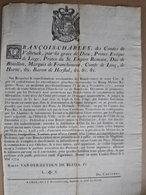 Ordonnance Relative Aux Distillateurs Liégeois, 1774 - Décrets & Lois