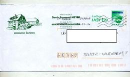 Pap Carte Verte Flamme Chiffree Entete Vin Kehren Meyer - Postal Stamped Stationery