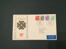 GB 1982  12.5p-26p (4 Vals) Wales Machin FDC, PO Cover, Cardiff SpeciaI Postmark - FDC
