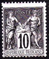 89 - 10c Noir / Lilas Sage Type II (N/U) - Neuf N** - 1876-1898 Sage (Type II)