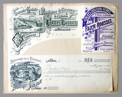 """Ancien Document """"Echantillons D'imprimerie"""" 1896 Brasserie Fontaine, Nimes Bière - Alcohols"""
