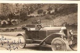 Photographie Ancienne Petit Format, Citroën B2 Au Pas De Saint-Raphaël (Var), Photo De 1924 - Automobiles