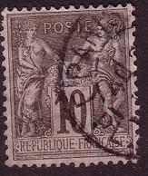PAIX Type II N° 89-90-91-92-94-96-98-102-103 - Oblitérés - 1876-1898 Sage (Type II)