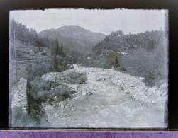 Ancienne Photographie Photo Négatif Sur Verre Argentière Vue Vers Le Col Des Montets Près Chamonix Mont Blanc Salvan CPA - Plaques De Verre