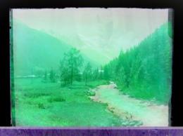 Ancienne Photographie Photo Négatif Sur Verre Près De L'Argentière Chamonix Mont Blanc Salvan Finhaut Gietroz CPA - Plaques De Verre