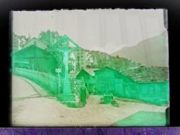 Ancienne Photographie Photo Négatif Sur Verre Finhaut En 1922 Près De Argentière Chamonix Salvan Gietroz Vallorcine CPA - Plaques De Verre