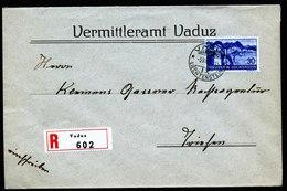 A5841) Liechtenstein R-Brief Vaduz 05.08.39 N. Triesen EF Mi.162 - Liechtenstein