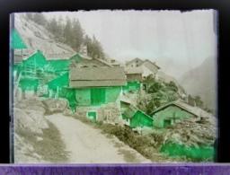Ancienne Photographie Photo Négatif Sur Verre Gietroz En 1922 Près De Finhaut Argentière Chamonix Salvan Vallorcine CPA - Glasdias