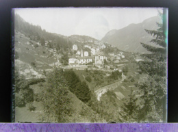 Ancienne Photographie Photo Négatif Sur Verre Finhaut En 1922 Près De Gietroz Argentière Chamonix Salvan Vallorcine CPA - Glasdias