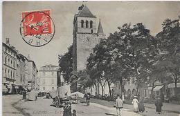 46, Lot, CAHORS, La Place Du Marché, Scan Recto-Verso - Cahors
