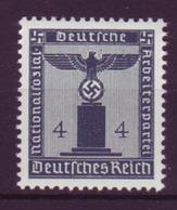 Dt. Reich Dienst D 157 Ohne WZ Einzelmarke 4 Pf Postfrisch - Dienstpost