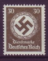 Dt. Reich Dienst D 141 WZ Einzelmarke 30 Pf Postfrisch - Dienstpost
