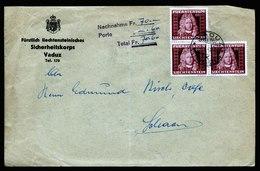A5842) Liechtenstein Nachnahme-Brief Vaduz 09.01.42 N. Schaan MeF Mi.198 (3) - Liechtenstein