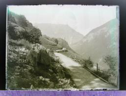 Ancienne Photographie Photo Négatif Sur Verre Vallée De Trient Près De Salvan 1922  Gietroz Chamonix Finhaut Vallorcine - Glasdias
