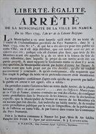 Protestation De La Municipalité De Namur En 1793 - Decrees & Laws