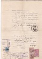 ITALIE / ITALY / ACTE NOTAIRE / LIGURIE / PIEVE DI TECO / TIMBRES 2 LIRE ET 25 C 2/10 - 1900-44 Vittorio Emanuele III