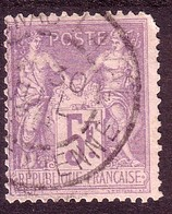 "YT 95 Type II "" Sage 5F. Violet S. Lilas "" 1877-80 - 1876-1898 Sage (Type II)"