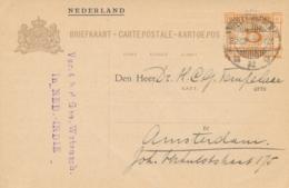 Nederlands Indië - 1930 - 5 Op 7,5 Cent Cijfer, Briefkaart G44 - Particulier Bedrukt Van Weltevreden Naar Amsterdam - Niederländisch-Indien