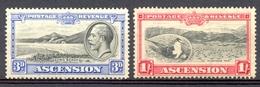 Ascension - 1934 - Yt 25 + 28 - Série Courante - * Charnières - Ascension (Ile De L')