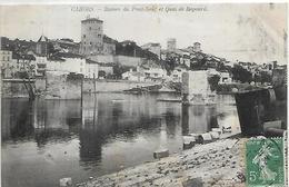 46, Lot, CAHORS, Ruines Du Pont-Neuf Et Quai De Regourd, Scan Recto-Verso - Cahors
