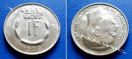 LUXEMBOURG 1 Franc 1978 JEAN GRAND-DUC - Luxembourg
