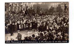 CPA 68 -  Mulhouse - MM Poincaré Et Clemenceau Le 10 Décembre 1918 , Carte Photo - Mulhouse