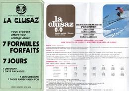 4 Dépliants Touristiques -  LA  CLUSAZ -  Hiver 1978 - 79 - Dépliants Touristiques