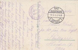Cachet Brief Stempel Reservelazarett BAD SUDERODE Ostharz  10/5/1917 Sur Carte Postale Pour Stuttgart - Cartas