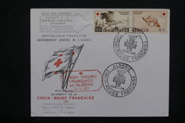 ALGÉRIE - Enveloppe FDC Croix Rouge En 1957  - L 21972 - Algérie (1924-1962)