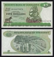 Simbabwe - Zimbabwe 5 Dollars 1983 Pick 2c UNC     (17896 - Banknoten