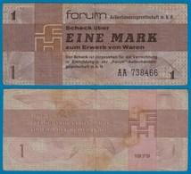DDR Forumscheck 1 Mark 1979 Ros. 368a VF (3)    (20988 - [ 6] 1949-1990: DDR - Duitse Dem. Rep.