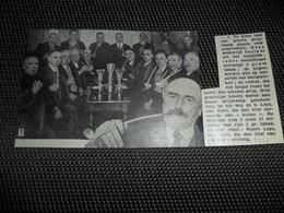 """Origineel Knipsel ( 2037 ) Uit Tijdschrift """" Ons Volk """"  1936 :   Gand  Gent   Pijprokers  Pijp  Pipe - Vieux Papiers"""